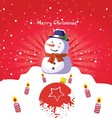 Merry Christmas Art Poster vector image