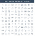 modern icons vector image vector image