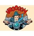 Motorcyclist rider biker man vector image vector image