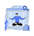 office meditation booth abstract concept vector image vector image