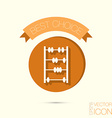 old retro abacus icon vector image