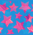 pink star seamless pattern vector image vector image