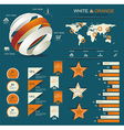 Retro infographics set vector image vector image
