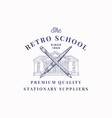 retro school suppliers abstract sign vector image vector image