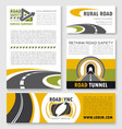 road poster banner and flyer template set vector image vector image