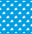santa hat pattern seamless blue vector image vector image