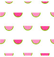 seamless watermelon stylized striped pattern vector image vector image