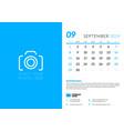 september 2019 desk calendar design template with vector image