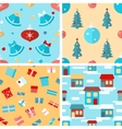 Set of seamless Christmas patterns vector image vector image
