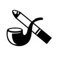 smoke icon vector image vector image