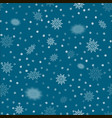 snowflakes seamless pattern winter christmas vector image vector image
