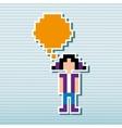 social media pixel design vector image vector image