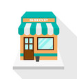 store icon with shadow vector image vector image