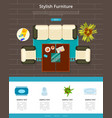 stylish furniture web page vector image vector image