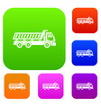 truck set collection vector image vector image