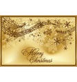 vector beautiful gold background vector image