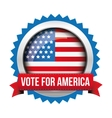 Vote for America - election badge vector image