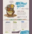 Website design template Cup of coffee vector image vector image