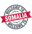 welcome to Somalia red round vintage stamp vector image vector image