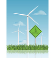 wind turbine field vector image vector image