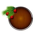 xmas balls fir vector image
