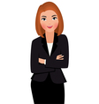 Young businesswoman isolated on white background vector image vector image