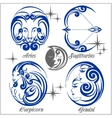 Zodiac signs and icons vector image vector image