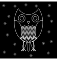 Figure owls to fashion design vector image