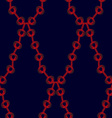 Red chain pattern vector image