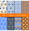 Set of mexican seamless patterns vector image