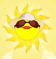 Sun Summer Holiday Woman vector image