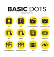video flat icons set vector image