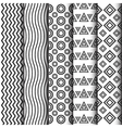295black and white pattern set vector image vector image