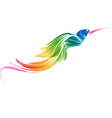 Abstract stylized flying bird vector image vector image