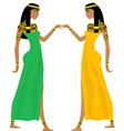Ancient Egyptian women dancing vector image vector image