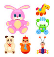 animal toys for little children set vector image