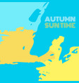 autumn suntime background banner vector image vector image