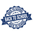 back to school stamp sign seal vector image vector image