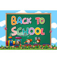 back to school template with sign vector image vector image
