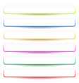 banner button shapes with 6 different colors