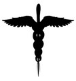 caduceus medical symbol isolated vector image
