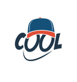Caption COOL with baseball cap vector image