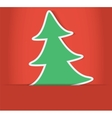 christmas tree inside of paper envelope vector image vector image