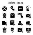 delete icon set graphic design vector image