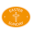 easter sunday banner with cross symbol vector image vector image