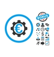 Euro Payment Options Flat Icon with Bonus vector image vector image