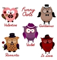 funny owls set for your design vector image vector image