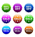 glossy stickers set vector image vector image