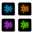 glowing neon bluetooth connected icon isolated on vector image vector image