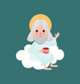 god character drinking tea from boss cup and vector image vector image